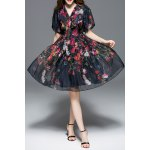 Puff Sleeve Gauze Floral Dress deal