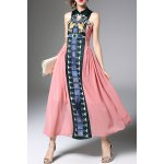 Embroidered Maxi Vintage Dress deal