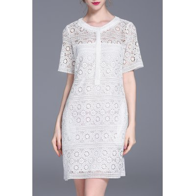 Cut Out Lace Dress