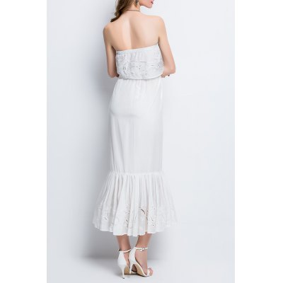Strapless Fishtail DressDesigner Dresses<br>Strapless Fishtail Dress<br><br>Size Guide: Regular<br>Style: Brief,Cute<br>Occasion: Beach<br>Material: Polyester<br>Composition: 100% Polyester<br>Silhouette: Trumpet/Mermaid<br>Dresses Length: Ankle-Length<br>Neckline: Strapless<br>Sleeve Length: Sleeveless<br>Waist: Empire<br>Pattern Type: Solid<br>With Belt: No<br>Season: Summer<br>Weight: 0.400kg<br>Package Contents: 1 x Dress