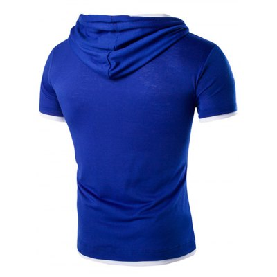 Hooded Solid Color Letter Printed Short Sleeve T-Shirt For MenMens Short Sleeve Tees<br>Hooded Solid Color Letter Printed Short Sleeve T-Shirt For Men<br><br>Material: Cotton,Polyester<br>Sleeve Length: Short<br>Collar: Hooded<br>Style: Casual<br>Weight: 0.340kg<br>Package Contents: 1 x T-Shirt<br>Pattern Type: Letter
