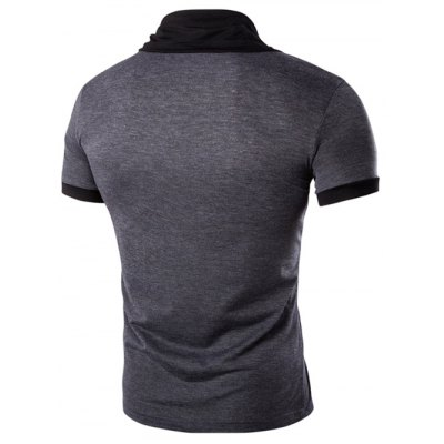 Stand Collar Solid Color Short Sleeve T-Shirt For MenMens Short Sleeve Tees<br>Stand Collar Solid Color Short Sleeve T-Shirt For Men<br><br>Collar: Stand-Up Collar<br>Material: Cotton, Polyester<br>Package Contents: 1 x T-Shirt<br>Pattern Type: Solid<br>Sleeve Length: Short<br>Style: Casual<br>Weight: 0.212kg