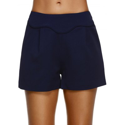 Fashionable High-Waisted Solid Color Slimming Women's Shorts