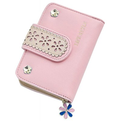 Chic Floral and Hollow Out Design Small Wallet For Women