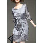 Openwork Drawstring Waist Dress deal