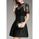 Sheer Lace Splicing Mini Dress deal