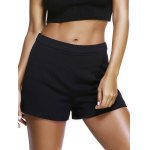 Simple Design High Waist Faux Pocket Solid Color Shorts For Women