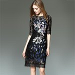 See-Through Embroidered Dress photo