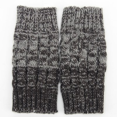 Crocheted Hemp Flowers Topper Double Sided Knitted Boot Cuffs For Women