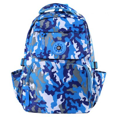 Casual Camouflage and Zip Closure Design Backpack For Men
