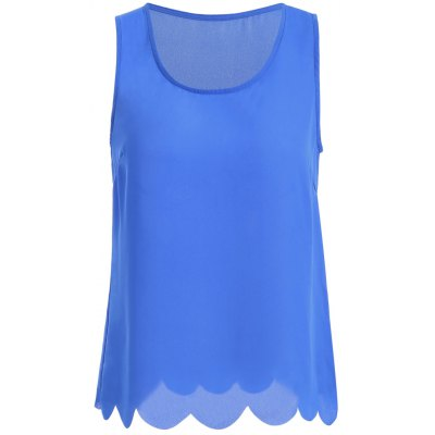 Lacy Pure Color Tank Top