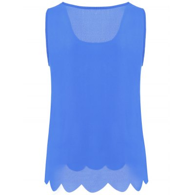 Women's Stylish Lacy Pure Color Tank Top