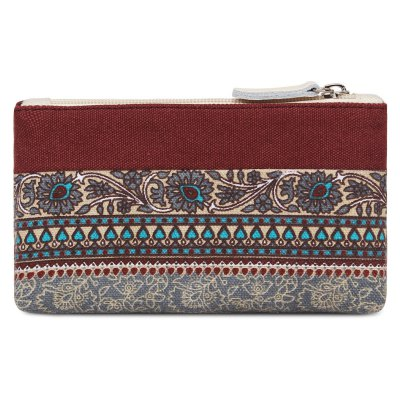Casual Tribal Print and Canvas Design Coin Purse For WomenCoin Purse &amp; Card Holder<br>Casual Tribal Print and Canvas Design Coin Purse For Women<br><br>Gender: For Women<br>Style: Casual<br>Closure Type: Zipper<br>Pattern Type: Print<br>Main Material: Canvas<br>Length: 18CM<br>Width: 3CM<br>Height: 10CM<br>Weight: 0.350kg<br>Package Contents: 1 x Coin Purse