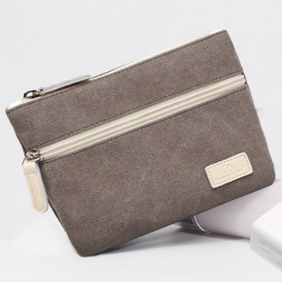 Simple Solid Color and Zips Design Coin Purse For Women