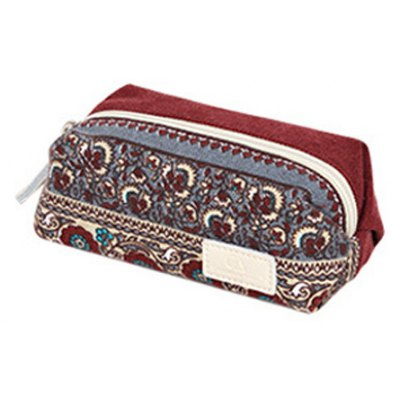 Ethnic Style Print and Canvas Design Coin Purse For Women