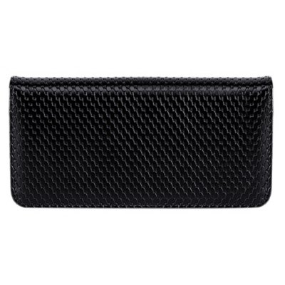 Concise Embossing and Black Design Wallet For Women