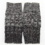 Pair of Chic Crocheted Hemp Flowers Topper Double Sided Knitted Boot Cuffs For Women