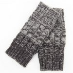 cheap Pair of Chic Crocheted Hemp Flowers Topper Double Sided Knitted Boot Cuffs For Women