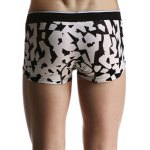 Geometric and Letters Print U Pouch Design Boxer Brief For Men for sale
