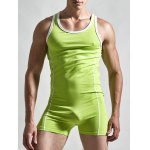 Round Neck Solid Color Siamesed Romper For Men