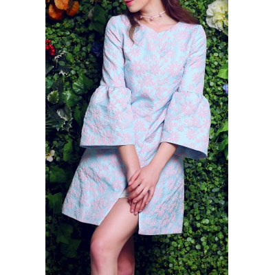 Floral Embroidery Fitting Trench Coat