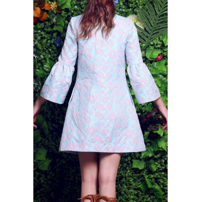 Floral Embroidery Fitting Trench CoatDesigner Sweaters &amp; Cardigans<br>Floral Embroidery Fitting Trench Coat<br><br>Clothes Type: Trench<br>Material: Polyester<br>Composition: Outer Composition:100%Polyester&lt;br&gt;Lining Composition:100%Polyester<br>Type: Slim<br>Sleeve Length: Three Quarter<br>Clothing Length: Regular<br>Collar: Collarless<br>Pattern Type: Floral<br>Embellishment: Embroidery<br>Style: Fashion<br>With Belt: No<br>Weight: 0.320kg<br>Package Contents: 1 x Trench Coat
