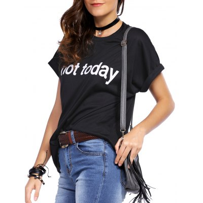 Casual Short Sleeve Letter Print Women's T-Shirt