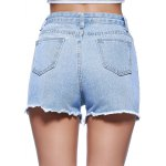 Chic Women's Ethnic Print Denim Shorts for sale