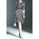 Belted Printed A Line Dress deal