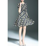 Belted Printed A Line Dress for sale