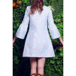 cheap Floral Embroidery Fitting Trench Coat