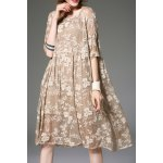 Buy Delicate Embroidery Boho Dress Cami APRICOT