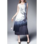 Double Layer Ink Painting Tank Dress deal