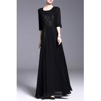 Embroidery Hollow Out Dress