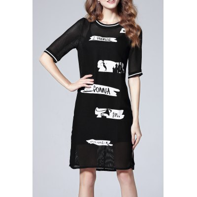 Cami Dress and Letter Print Dress