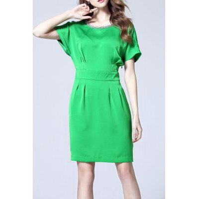OL Style Pure Color Dress