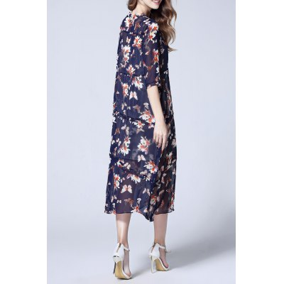 Cami Dress and Chiffon Floral Print DressDesigner Dresses<br>Cami Dress and Chiffon Floral Print Dress<br><br>Size Guide: Regular<br>Style: Casual<br>Occasion: Casual,Day,Work<br>Material: Polyester<br>Composition: 100% Polyester<br>Silhouette: A-Line<br>Dresses Length: Mid-Calf<br>Neckline: Stand<br>Sleeve Length: Half Sleeves<br>Pattern Type: Floral<br>With Belt: No<br>Season: Summer<br>Weight: 0.430kg<br>Package Contents: 1 x Cami Dress  1 x Outer Dress
