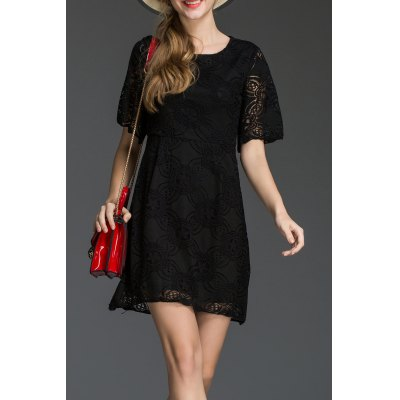 Mini Lace A Line Dress