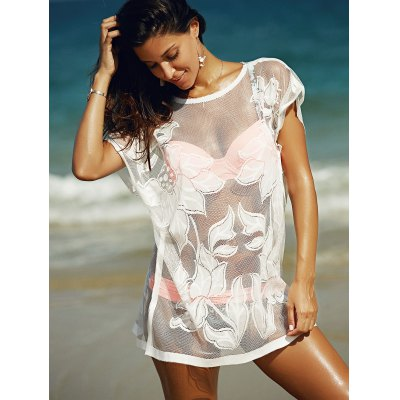 Stylish Women's See-Through Laced Cover Up