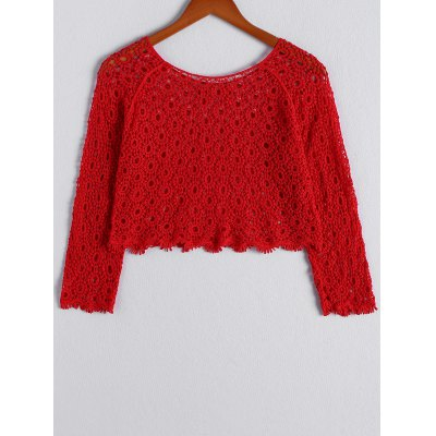 Stylish Scoop Neck Long Sleeves Openwork Crop Top For WomenCrop Tops<br>Stylish Scoop Neck Long Sleeves Openwork Crop Top For Women<br><br>Material: Spandex<br>Clothing Length: Short<br>Pattern Type: Others<br>Style: Fashion<br>Weight: 0.370kg<br>Package Contents: 1 x Crop Top