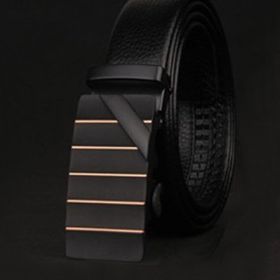 Slender Stripy and Wide Twill Embellished Formal Occasion Belt For Men