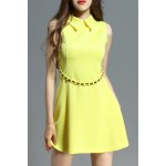 Polo Collar Stud Embellished Dress deal
