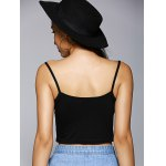 Trendy Spaghetti Strap Hollow Out Backless Crop Top deal