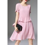 Irregular Faux Twinset Dress