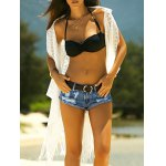 Stylish Women's See-Through Crochet Fringed Cover-Up