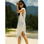 Stylish Women's See-Through Crochet Fringed Cover-Up deal