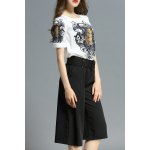 Print Tee with Wide Leg Pants deal