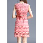 cheap Floral Embellished Lace Dress