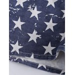 best Fashionable Washed American Flag Printing Jean Shorts
