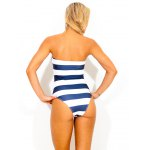 cheap Strapless Striped Women's One Piece Swimwear